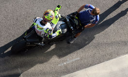 Valentino Rossi tested in Brno Stock Images