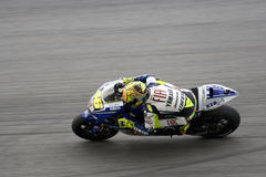 Valentino Rossi on track Royalty Free Stock Photos