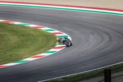 Valentino Rossi van Yamaha-Fabrieksteam die MotoGP rennen Stock Foto's