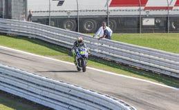 Valentino Rossi van Yamaha-Fabrieksteam het rennen Royalty-vrije Stock Foto
