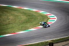 Valentino Rossi von Yamaha-Werksteam laufendes MotoGP Stockbilder