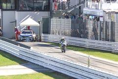 Valentino Rossi of Yamaha Factory team racing Royalty Free Stock Photos
