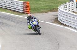 Valentino Rossi of Yamaha Factory team racing Stock Image