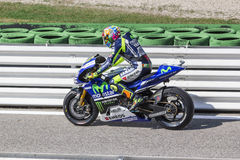 Valentino Rossi of Yamaha Factory team racing Royalty Free Stock Photography