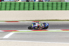 Valentino Rossi of Yamaha Factory team racing Stock Images