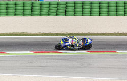Valentino Rossi of Yamaha Factory team racing Royalty Free Stock Image