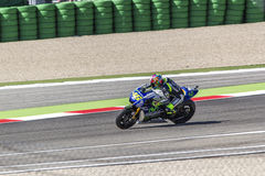 Valentino Rossi of Yamaha Factory team racing Royalty Free Stock Photo
