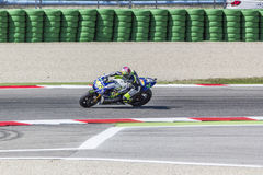 Valentino Rossi of Yamaha Factory team racing Royalty Free Stock Image