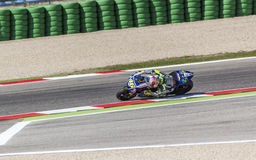 Valentino Rossi of Yamaha Factory team racing Stock Photo
