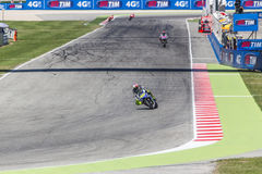 Valentino Rossi of Yamaha Factory team racing Stock Photography