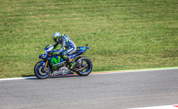 Valentino Rossi of Yamaha Factory team racing MotoGP Royalty Free Stock Photo