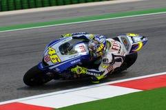 Valentino Rossi YAMAHA MOTOGP Royalty-vrije Stock Foto's