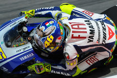 Valentino Rossi YAMAHA MOTOGP Stock Afbeelding