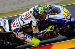 Valentino Rossi YAMAHA MOTOGP Royalty-vrije Stock Afbeeldingen