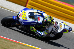 Valentino Rossi YAMAHA MOTOGP Stock Foto's