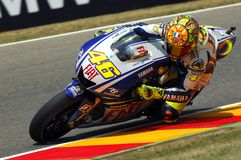 Valentino Rossi YAMAHA MOTOGP photos libres de droits