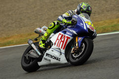 Valentino Rossi YAMAHA MOTOGP image libre de droits