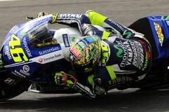 Valentino Rossi YAMAHA MOTOGP 2014 image libre de droits