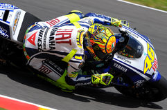 Valentino Rossi YAMAHA MOTOGP 2010 Royalty Free Stock Photography