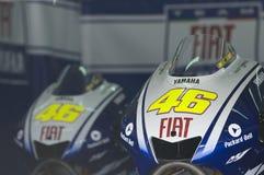 Valentino Rossis Prüfungsmotorräder 2009 Lizenzfreies Stockbild