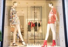 Valentino shop Royalty Free Stock Photography