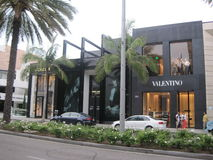 Valentino store at Rodeo Drive Royalty Free Stock Photo