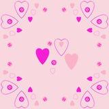 Valentinpatroon, harten, ellipsen, gekrabbel Getrokken hand royalty-vrije illustratie