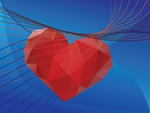 Valentins Day Greeting with 3d Heart Stock Photos