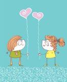 Valentins day postcard.LOve background Stock Image