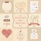 Valentins hälsningar Arkivbilder