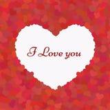 Valentinsammansättning älskar jag dig seamless Arkivfoton