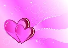 Valentinsgrüße backgound Stockbild