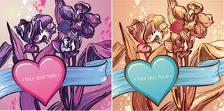Valentinsgrüße Day.illustration der Blumen oder Lizenzfreies Stockfoto