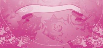 Valentinsgrüße DL-Flugblatt Stockbild