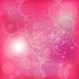 Valentinsgrüße extrahieren mit süßen rosa backgrouds Lizenzfreie Stockfotografie