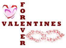 Valentinsgrüße für immer Stockbild