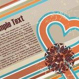 Valentinsgrüße grunge Retro- Hintergrund Lizenzfreie Stockbilder