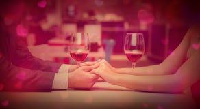 Valentinsgrüße Hintergrund, Herz und romantische Hände Stockfotos