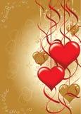 Valentinsgrüße Hintergrund, Vektor stock abbildung