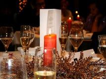 Valentinsgrüße - romantisches Abendessen Stockfotografie