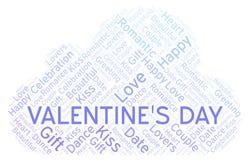 Valentinsgruß \ 's-Tageswortwolke stock abbildung