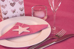 Valentinsgruß-Abendessen Stockfotos