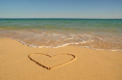 Valentinsgruß auf dem Strand Lizenzfreie Stockfotografie