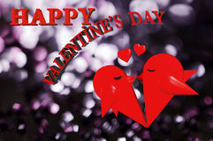 Valentinsgruß 3d ` s Tag Stockbilder
