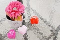 Valentinsgruß-Dekor stockbilder