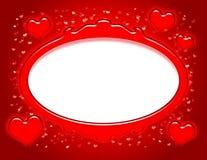 Valentinsgruß-Feld Lizenzfreies Stockbild