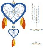 Valentinsgruß in Form von Traumfänger vektor abbildung