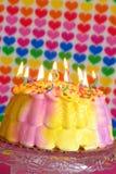 Valentinsgruß-Geburtstag-Kuchen Lizenzfreie Stockfotografie