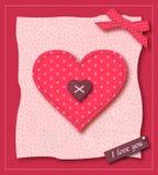 Valentinsgruß-Gruß-Karte Stockbild