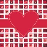 Valentinsgruß-Gruß-Karte Stockfotografie